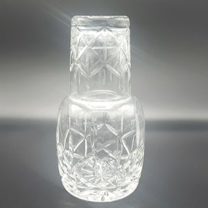 Heavy Crystal Water Set,  Carafe & Glass